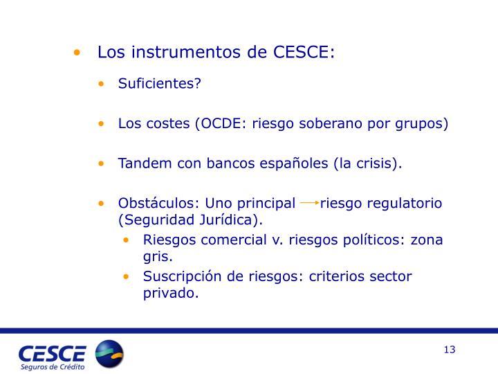 Los instrumentos de CESCE: