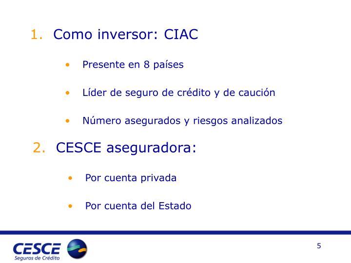Como inversor: CIAC