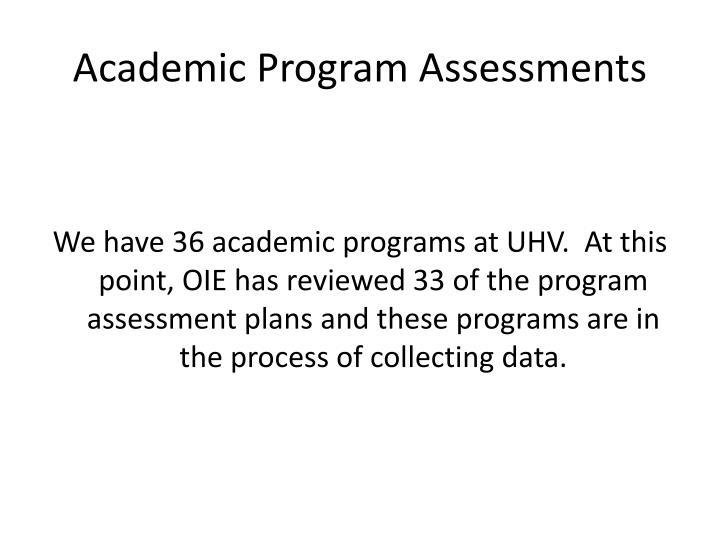 Academic Program Assessments