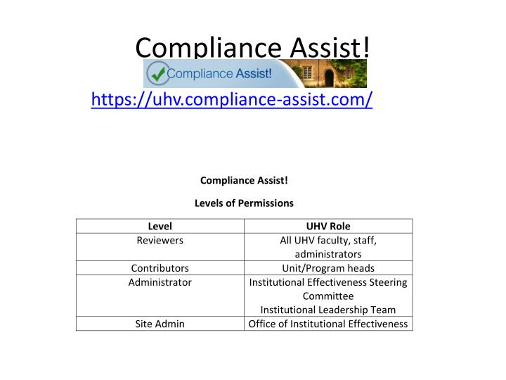 Compliance Assist!