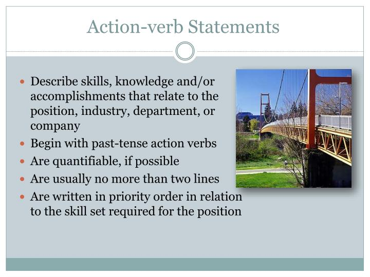 Action-verb Statements