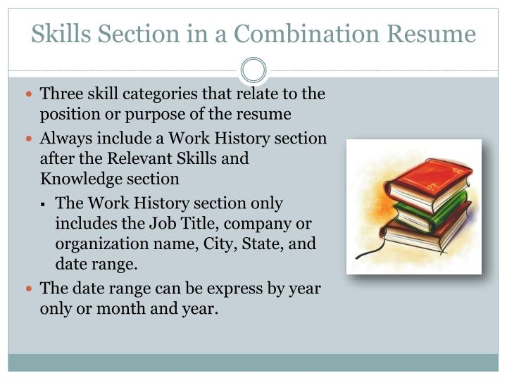 Skills Section in a Combination Resume