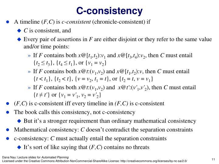 C-consistency