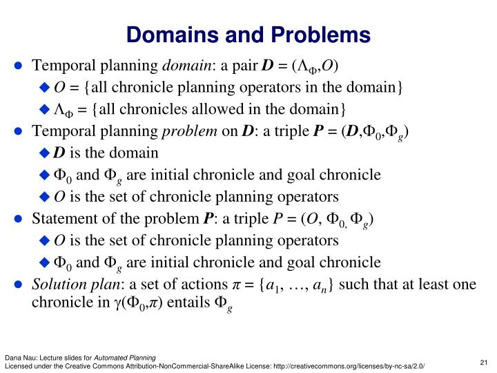 Domains and Problems