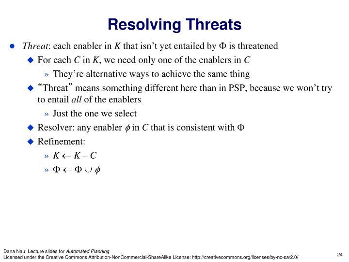 Resolving Threats