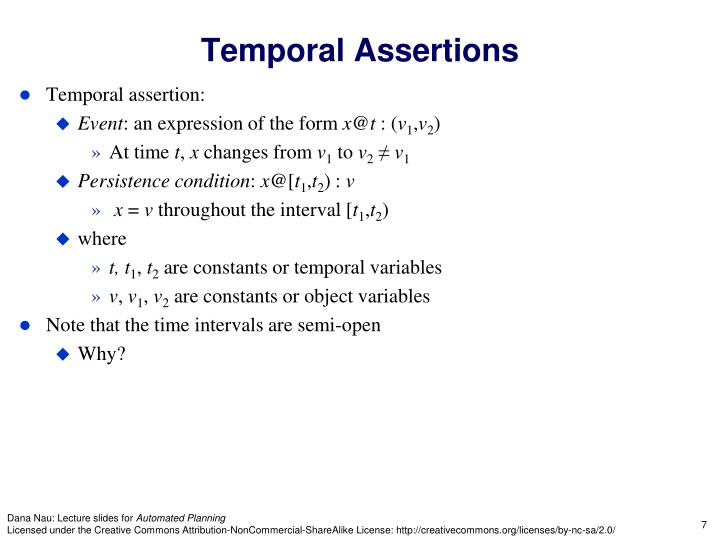 Temporal Assertions