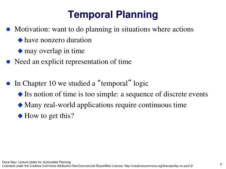 Temporal planning