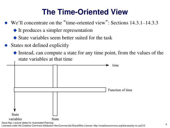 The Time-Oriented View