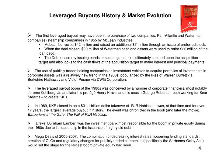 Leveraged Buyouts History & Market Evolution
