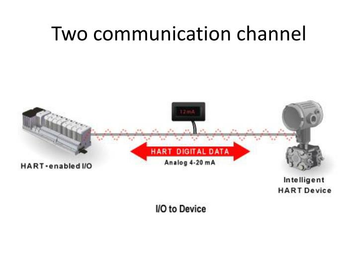 Two communication channel