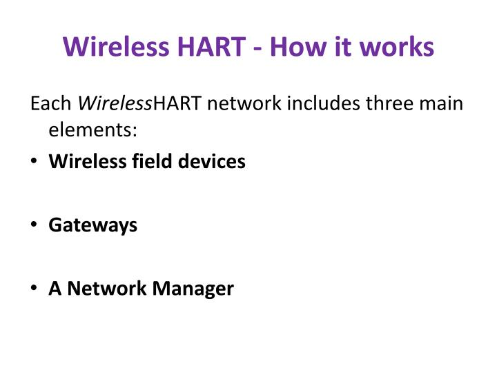 Wireless HART - How it works