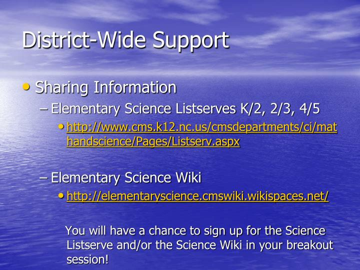District-Wide Support