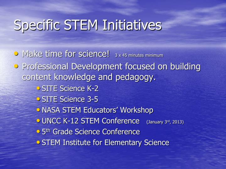 Specific STEM Initiatives