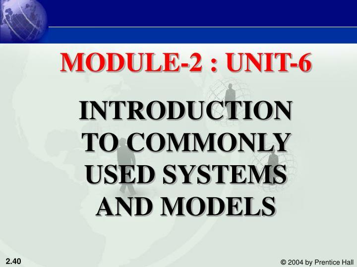 MODULE-2 : UNIT-6