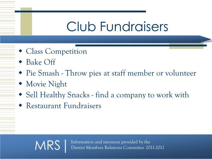 Club Fundraisers