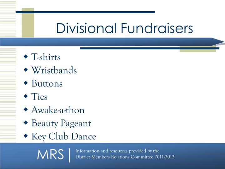 Divisional Fundraisers