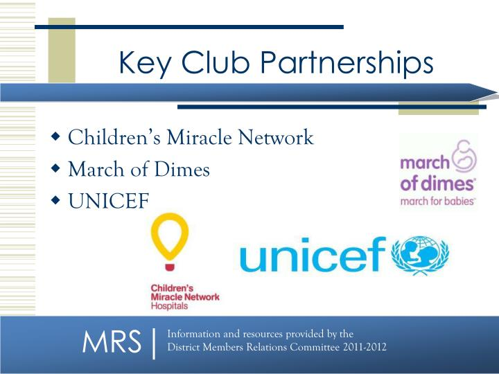 Key Club Partnerships