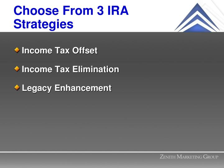 Choose From 3 IRA Strategies