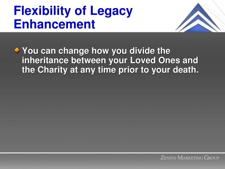 Flexibility of Legacy Enhancement