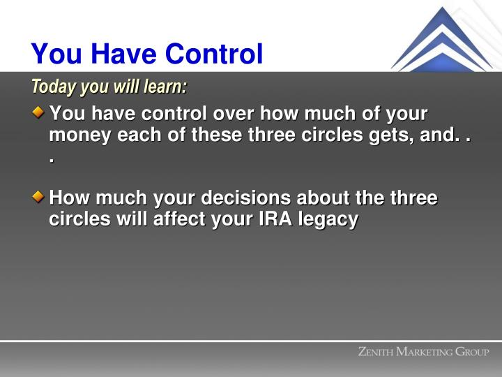 You Have Control