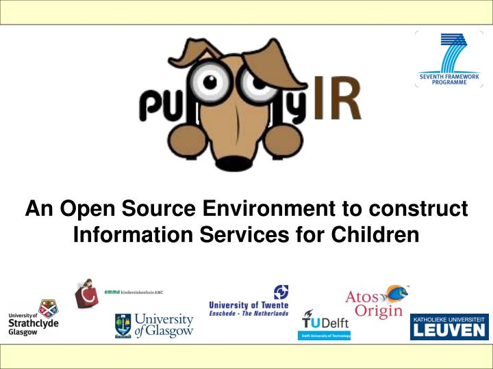 An Open Source Environment to construct Information Services for Children