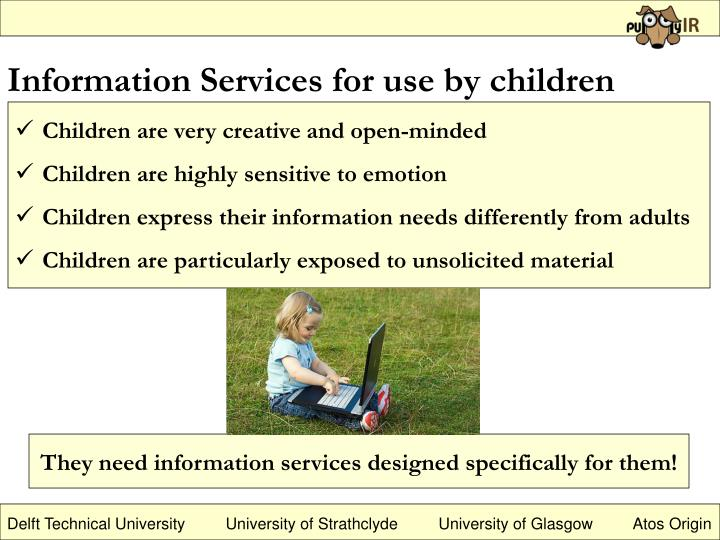 Information Services for use by children