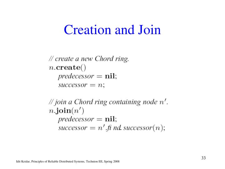 Creation and Join
