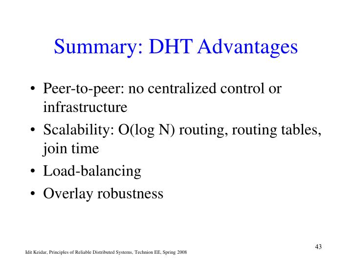 Summary: DHT Advantages