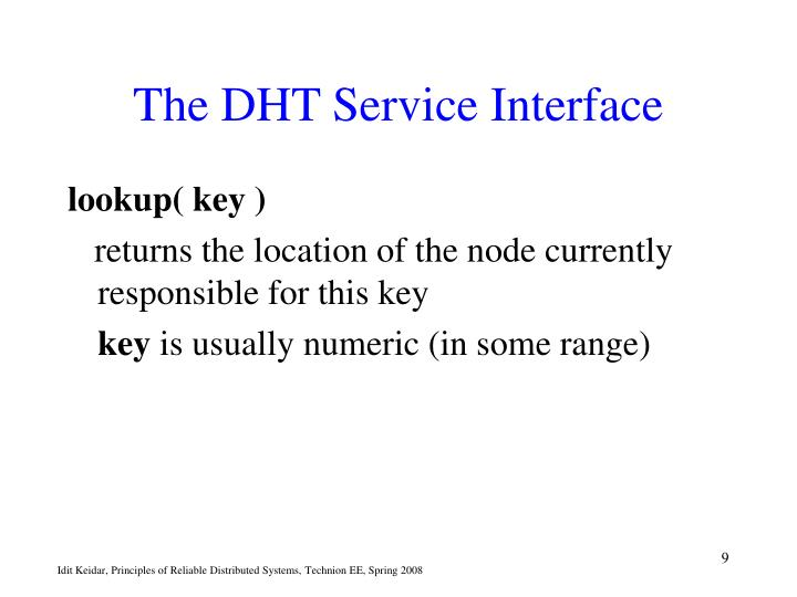 The DHT Service Interface