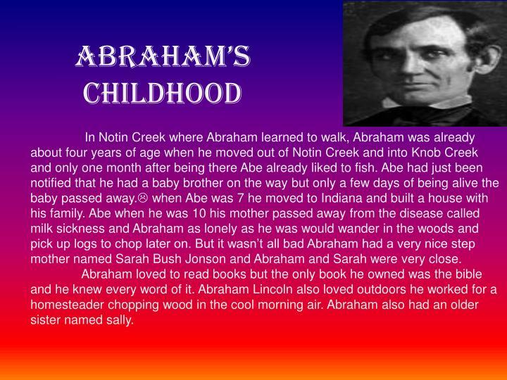 Abraham's Childhood