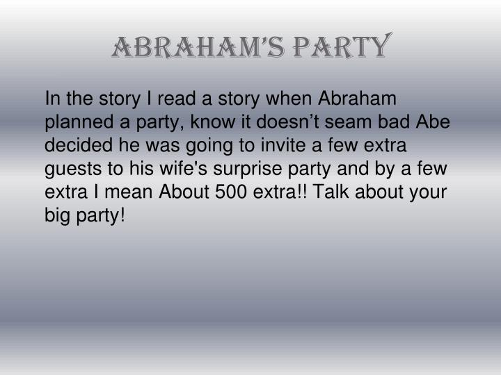 Abraham's Party
