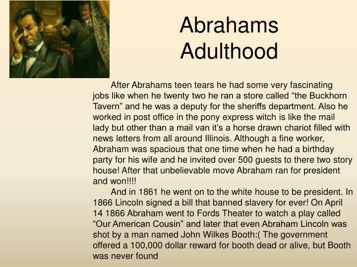 Abrahams Adulthood