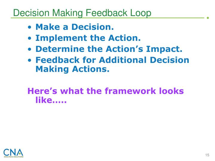 Decision Making Feedback Loop