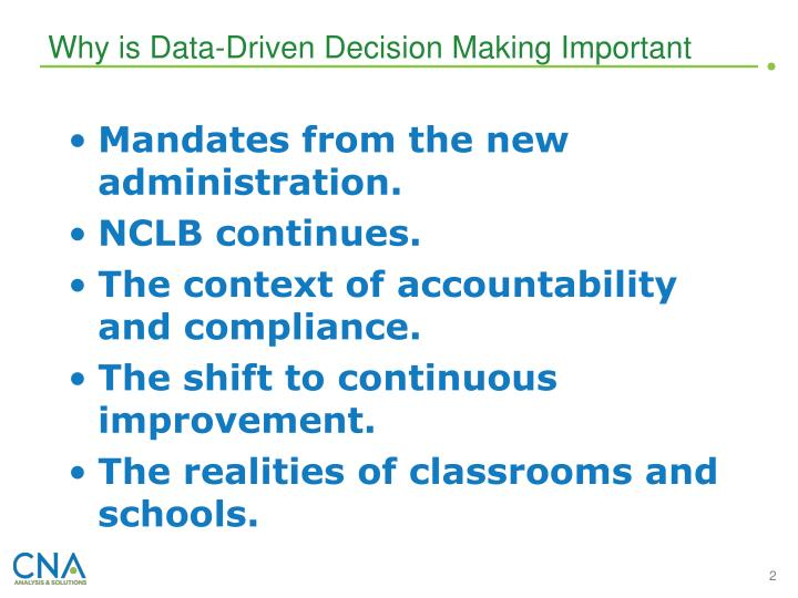 Why is Data-Driven Decision Making Important