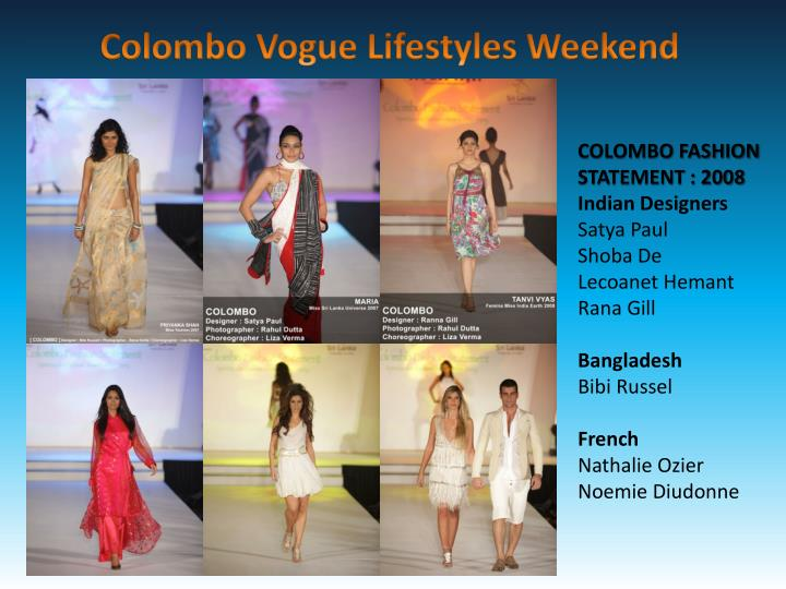 COLOMBO FASHION STATEMENT : 2008