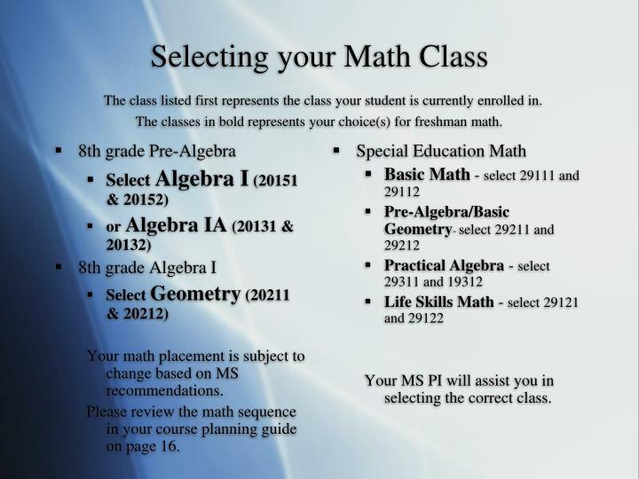 8th grade Pre-Algebra