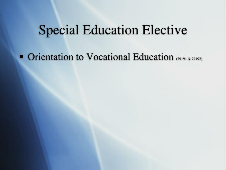 Special Education Elective