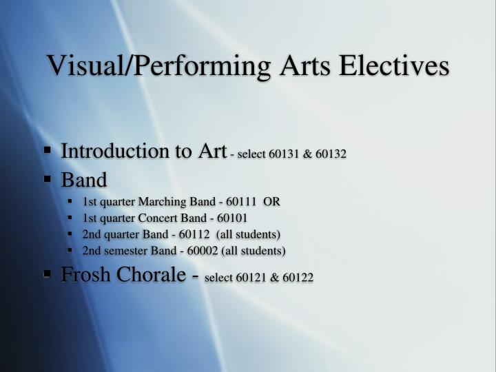 Visual/Performing Arts Electives