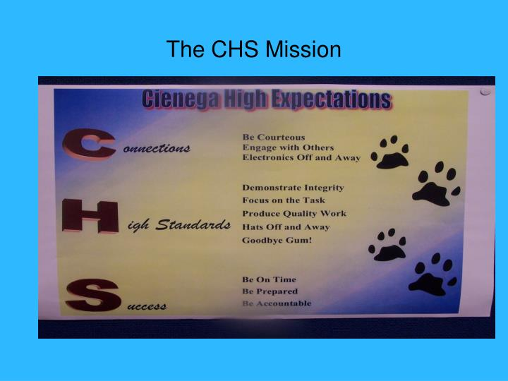The chs mission