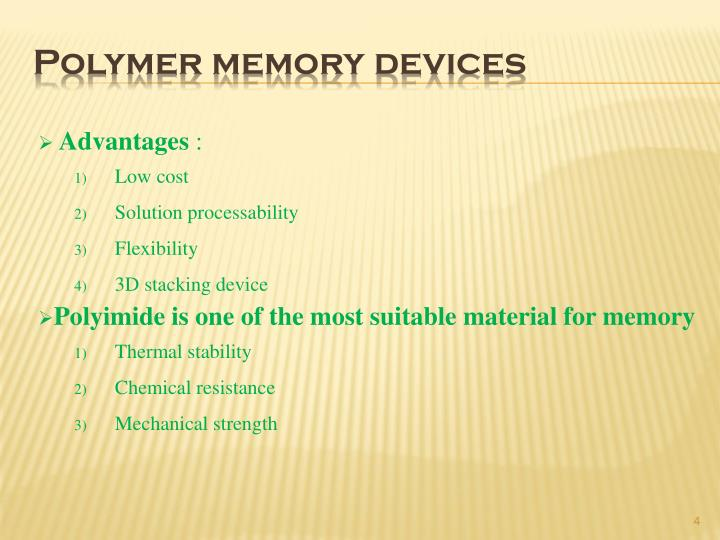 Polymer memory devices