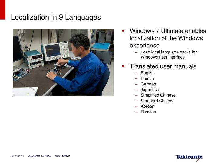 Localization in 9 Languages