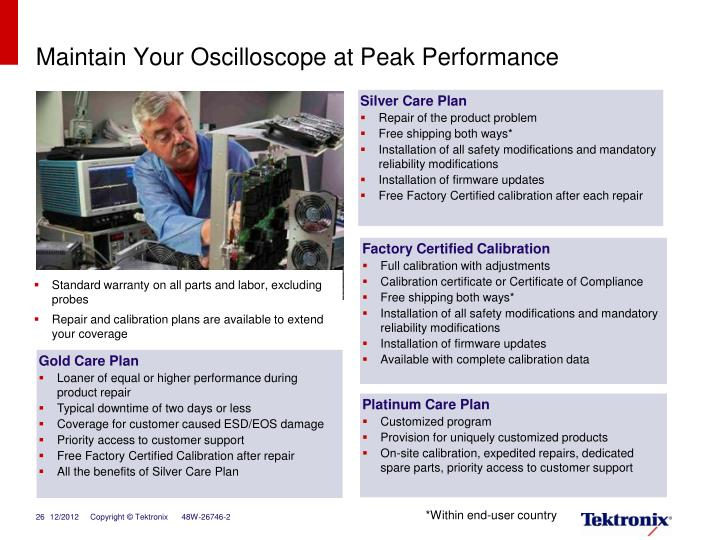 Maintain Your Oscilloscope at Peak Performance