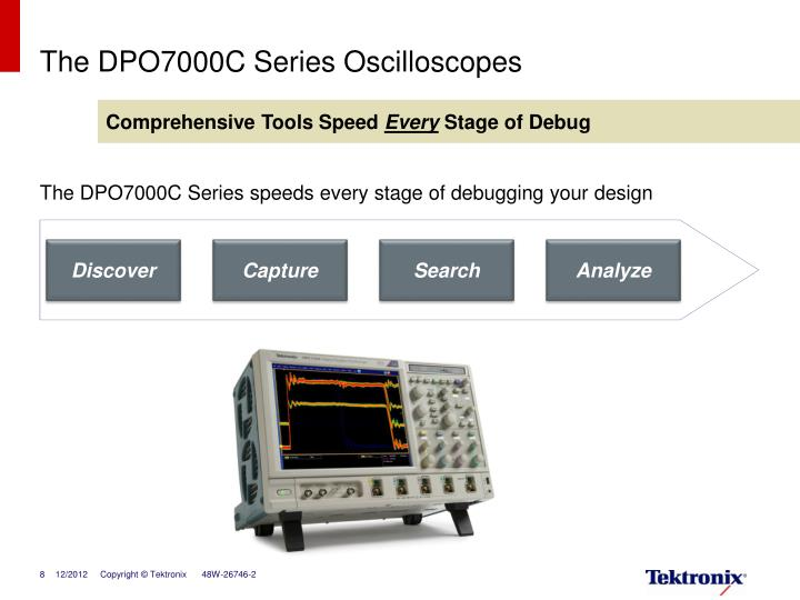 The DPO7000C Series Oscilloscopes