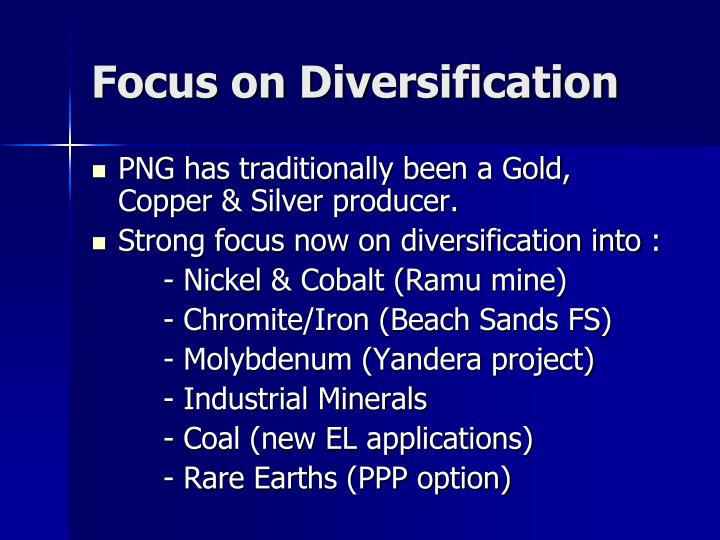 Focus on Diversification