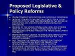 proposed legislative policy reforms