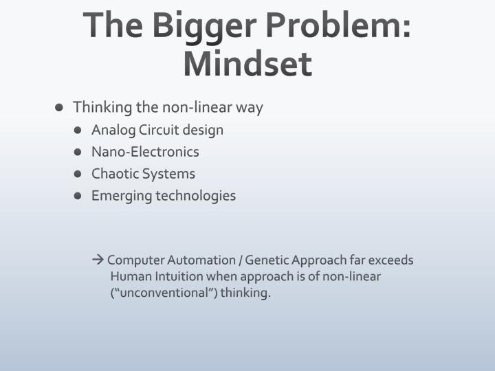 The Bigger Problem: Mindset