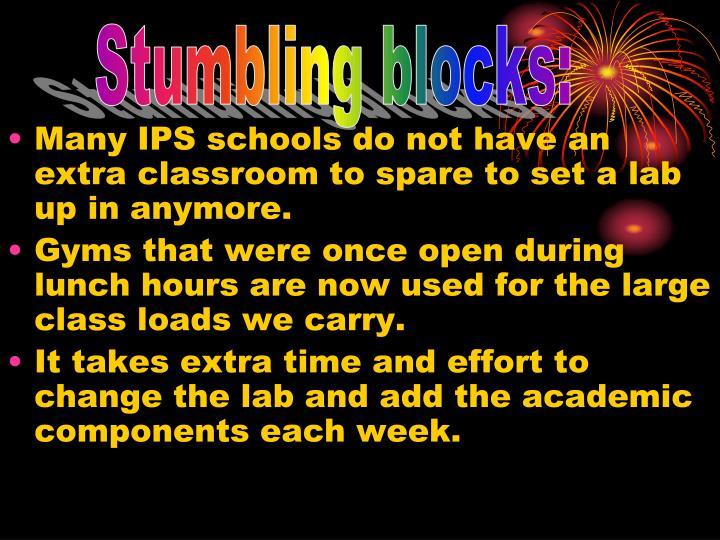 Stumbling blocks: