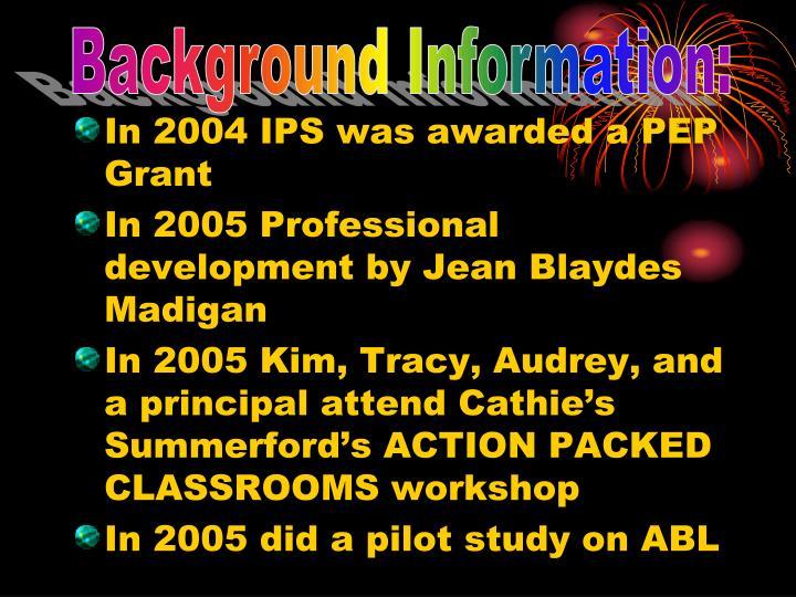 Background Information: