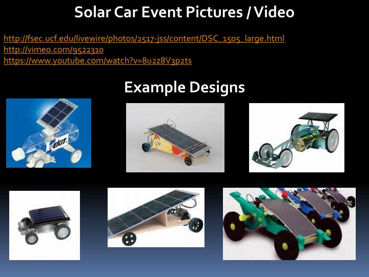 Solar Car Event Pictures / Video
