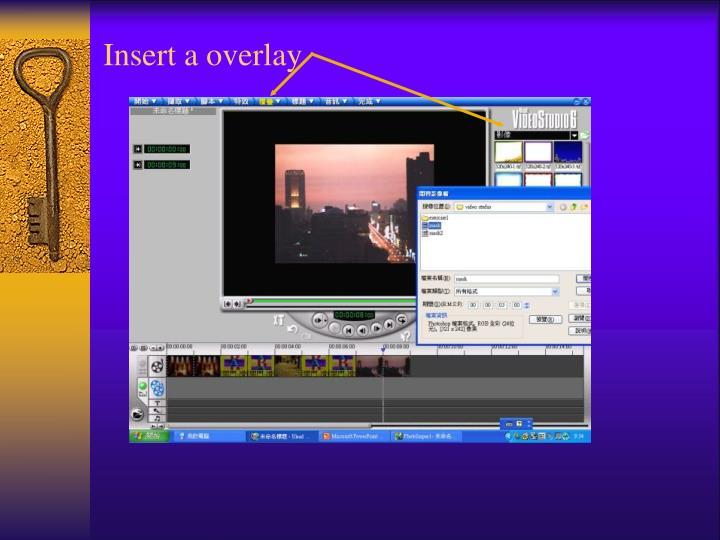 Insert a overlay